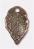 16x9mm Antiqued Brass Plated Tree Leaf Charms Pendant x2