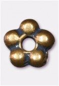 6mm Antiqued Brass Plated Fancy Spacer Beads x6