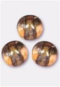8mm Czech Smooth Round Druk Glass Beads Lumi Brown x12