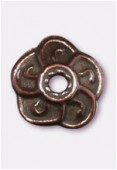 9mm Antiqued Copper Plated Bead Caps x2