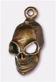 22x10mm Antiqued Copper Plated Gothic Death's-Head Charms Pendant x2