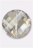 18mm Swarovski Crystal Twist Bead 5621 Crystal Silver Shade x1