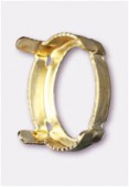 14x10mm Gold Plated Fancy Stone Setting x1