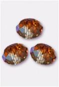 6mm Swarovski Crystal Briolette Bead 5040 Crystal copper x4
