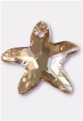 16mm Swarovski Crystal Starfish Pendant 6721 Crystal Golden Shadow x1