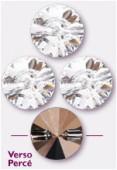 10mm Swarovski Crystal Rivoli Button 3015 Crystal x1