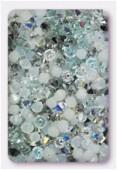 4mm Swarovski Crystal Bicone Beads 5328 Stardust Mix x50