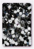 4mm Swarovski Crystal Bicone Beads 5328 Obsidian Mix x50