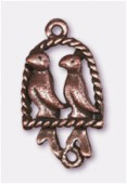 25x15mm Antiqued Copper Plated Roost Charms Pendant x1