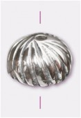 .925 Sterling Silver Flower Bead Cap 8mm x1