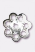 .925 Sterling Silver Flower Bead Cap 5mm x10