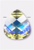 11x10mm Swarovski Crystal Pear Briolette Pendant 6012 Crystal AB x1