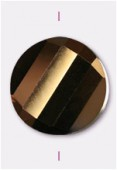 18mm Bronze Twist Coin Celebrity Crystal x1