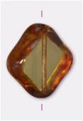 18mm Topaz Coin Diamond Cut x1