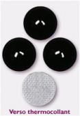 7mm Swarovski Crystal Hotfix Flatback Rhinestones 2080/4 SS34 Jet M HF x12
