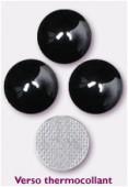 7mm Swarovski Crystal Hotfix Flatback Rhinestones 2080/4 SS34 Jet Hematite M HF x12
