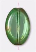 18x12mm Olivine Flat Oval Cut x1