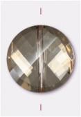 18mm Light Colorado Topaz Twist Coin Celebrity Crystal x1