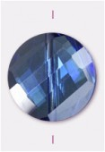 18mm Light Sapphire Topaz Twist Coin Celebrity Crystal x1