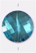 18mm Aqua Twist Coin Celebrity Crystal x1