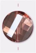 18mm Peach Twist Coin Celebrity Crystal x1