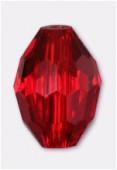 11x8mm Siam Oval Celebrity Crystal x2