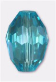 11x8mm Aqua Oval Celebrity Crystal x2