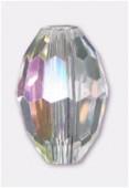 11x8mm Crystal AB Oval Celebrity Crystal x2