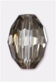 13x10mm Platinum Oval Celebrity Crystal x2