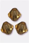 4mm Colorado Topaz Preciosa Czech Crystal Bicone Beads x50