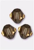4mm Smoke Topaz Preciosa Czech Crystal Bicone Beads x50