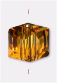 6mm Topaz Cube Celebrity Crystal x4