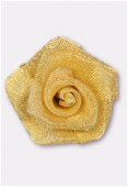 25mm Brass Wire Mesh Rose Wire Flower x1