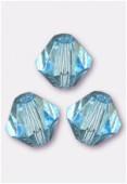 4mm Aqua Preciosa Czech Crystal Bicone Beads x50