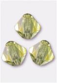 4mm Jonquil Preciosa Czech Crystal Bicone Beads x50