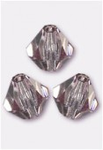 4mm Light Amethyst Preciosa Czech Crystal Bicone Beads x50
