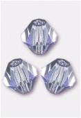 4mm Purple Preciosa Czech Crystal Bicone Beads x50