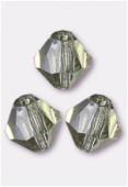 4mm Black Diamond Preciosa Czech Crystal Bicone Beads x50