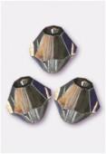 4mm Midnight Preciosa Czech Crystal Bicone Beads x50