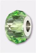 14mm  Swarovski Crystal Becharmed Briolette 5948 Peridot x1