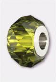 14mm  Swarovski Crystal Becharmed Briolette 5948 Olivine x1