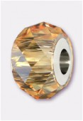 14mm  Swarovski Crystal Becharmed Briolette 5948 Crystal Golden Shadow x1