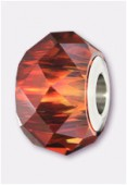 14mm  Swarovski Crystal Becharmed Briolette 5948 Crystal Red Magma x1