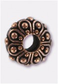 12x5mm Antiqued Copper Eurobeads Casbah Charms x1