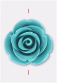 23mm Resin Turquoise Rose x1