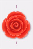 23mm Resin Coral Rose x1
