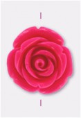 23mm Resin Fuchsia Rose x1