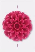 23mm Resin Fushia Flower x1