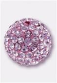 10mm Rhinestones Pave Ball Pink / Pink x1