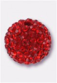 12mm Rhinestones Pave Ball Siam / Siam x1